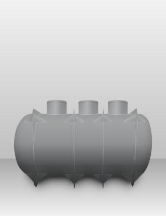 Septik plastový Plastbest 11m³ troj-komorový