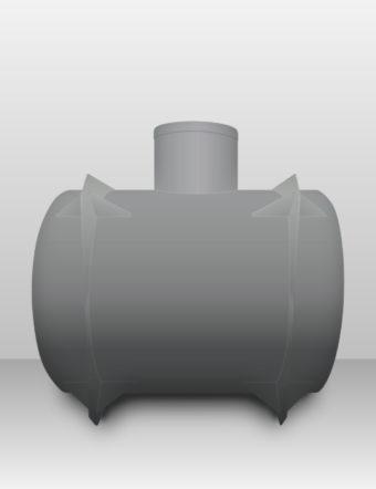 Septik plastový Plastbest 2.2m³ dvoj-komorový
