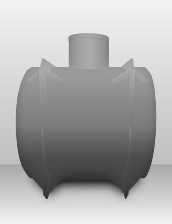 Septik plastový Plastbest 4m³ dvoj-komorový