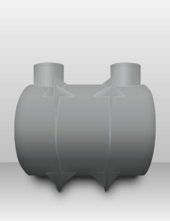 Septik plastový Plastbest 6m³ dvoj-komorový