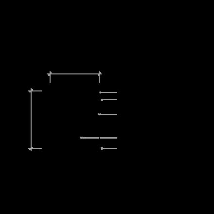 Revizní šachta plastová Plastbest DN160/480x600 - rozměry z čelního pohledu