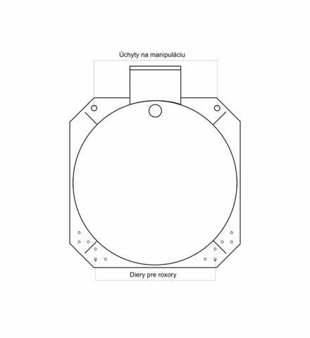 Septik plastový Plastbest 10m³ dvoj-komorový - rozměry z čelního pohledu