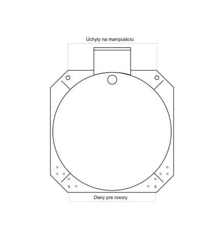 Septik plastový Plastbest 12m³ tří-komorový - rozměry z čelního pohledu