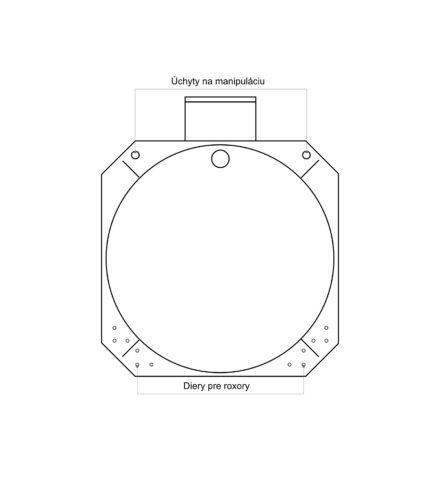Žumpa plastová Plastbest 4m³ - rozmery z čelného pohľadu