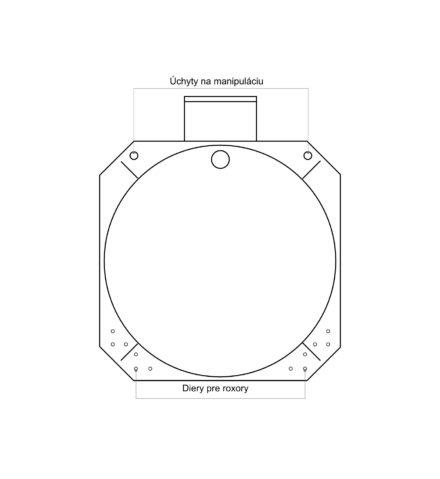 Žumpa plastová Plastbest 5m³ - rozmery z bočného pohľadu