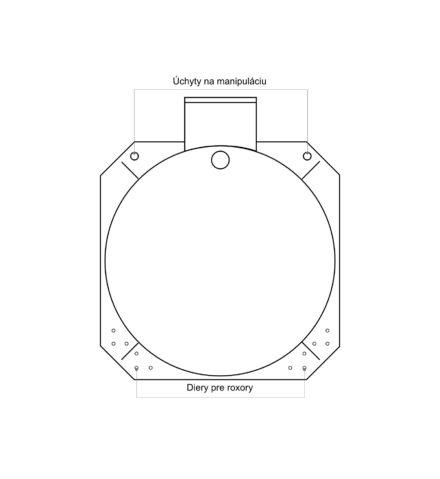 Žumpa plastová Plastbest 6m³ - rozmery z čelného pohľadu