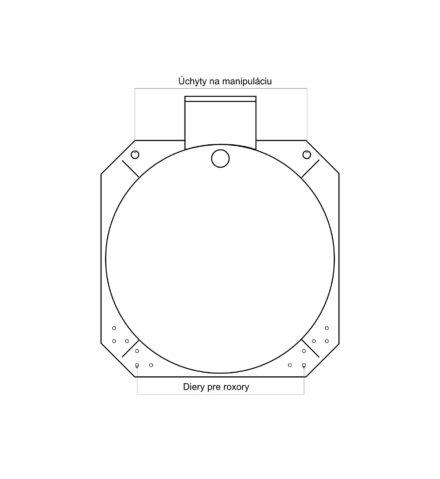 Žumpa plastová Plastbest 7m³ - rozmery z čelného pohľadu